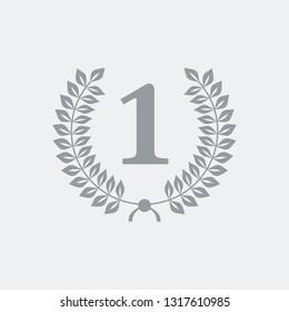 Number one laurel ribbon
