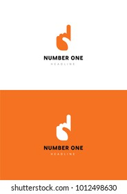 Number one logo template.
