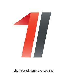 Number One two-colors logo concept