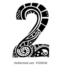 number ornament - 2 -