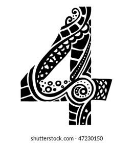 number ornament - 4 -