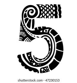 number ornament - 5 -