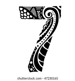 number ornament - 7 -