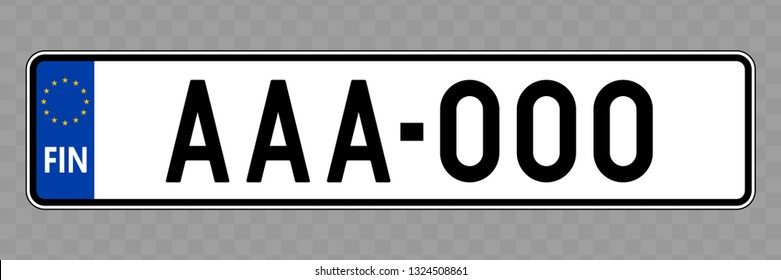 Number plate. Vehicle registration plates of Finland