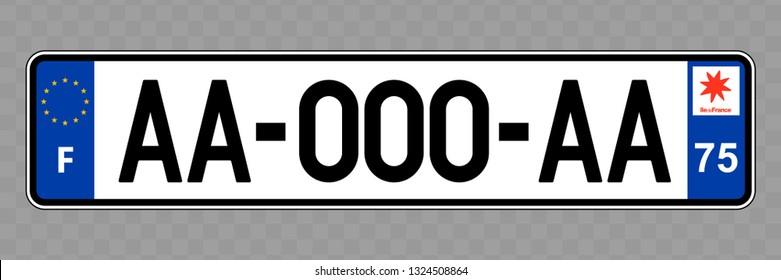 Number plate. Vehicle registration plates of France