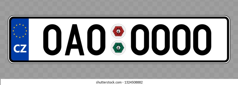 Number plate. Vehicle registration plates of Czech Republic