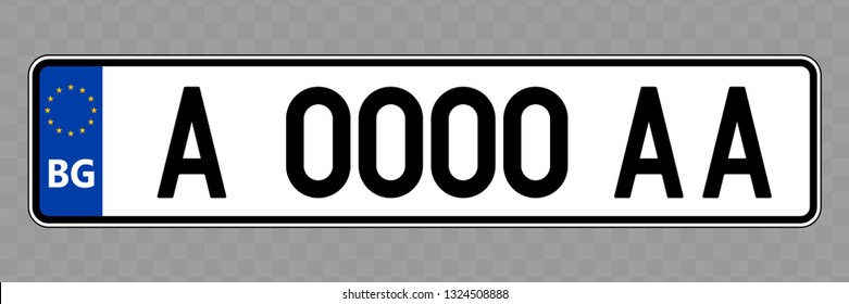 Number plate. Vehicle registration plates of Bulgaria