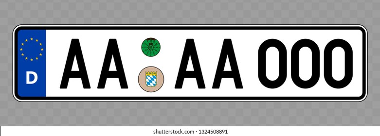 Number plate. Vehicle registration plates of Germany