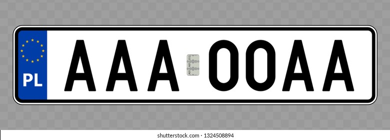Number plate. Vehicle registration plates of Poland
