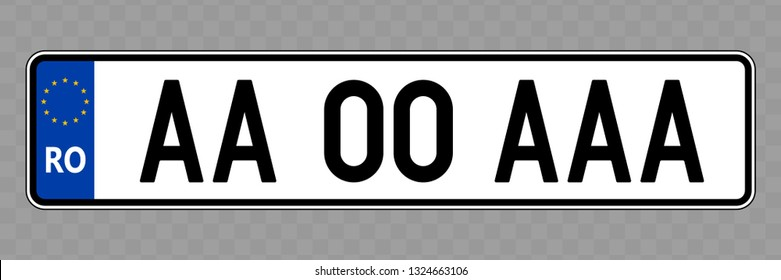 Number plate. Vehicle registration plates of Romania