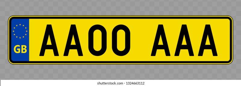 Number plate. Vehicle registration plates of United Kingdom