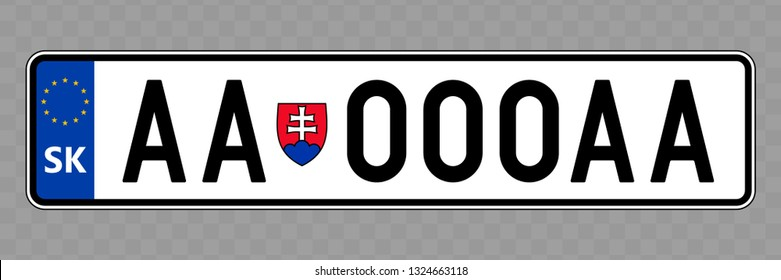 Number plate. Vehicle registration plates of Slovakia