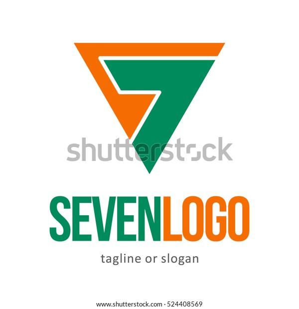 NUMBER SEVEN 7 LOGO ICON SYMBOL EMBLEM TEMPLATE