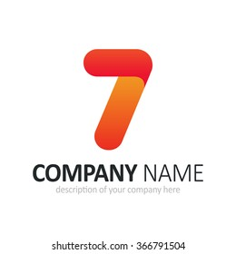 Number seven logo icon design template elements