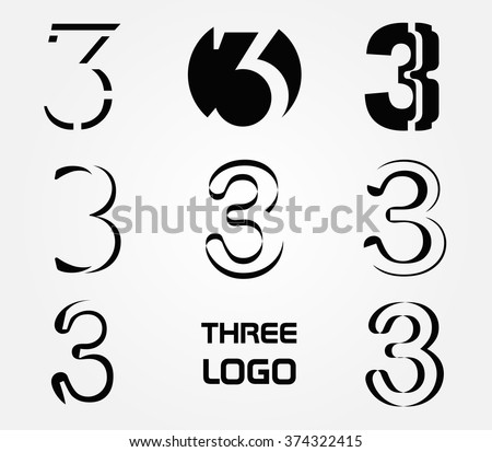 Number three logo logo 3 vector template stock vector royalty free number three logologo 3 vector template maxwellsz