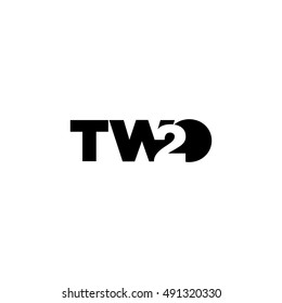 Number two negative space logo concept