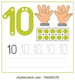 Number writing practice 10