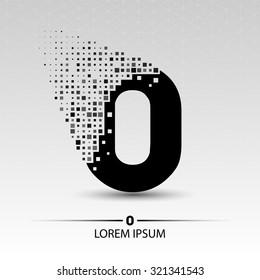 Number zero logo vector design illustration