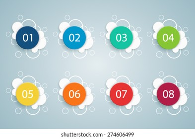 Numbered Bullet Point Bubble Infographics 2