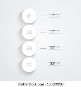 Numbered circles infographic design with your text and light background Eps 10 vector illustration