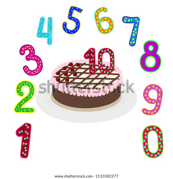 Numbers background, colorful pattern , kids designs , vector