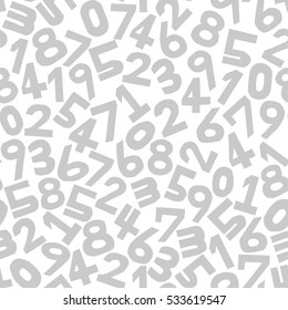 Numbers background. Seamless pattern. Vector.