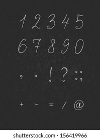 Numbers, black background