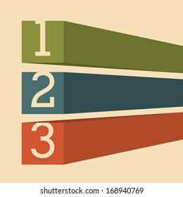 numbers design over pink  background vector illustration