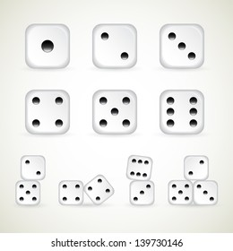 numbers of dice. vector (1-10 count)