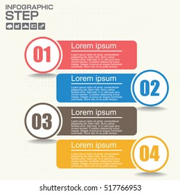 Numbers Four Points Slide Template