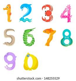 Numbers like sea inhabitants