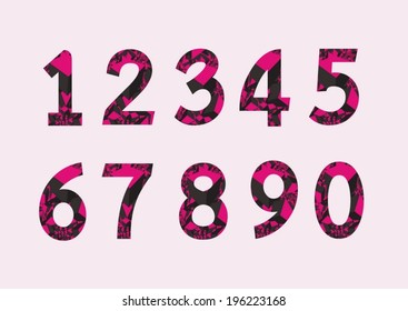 Numbers set in illustration , abstract number - Shutterstock ID 196223168