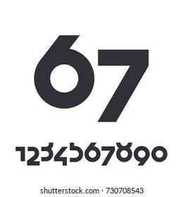 Numbers set. Vector elements illustration template for web design or print. Vector custom design elegant numbers 1, 2, 3, 4, 5, 6, 7, 8, 9, 0