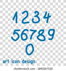 numbers vector icon on an abstract background