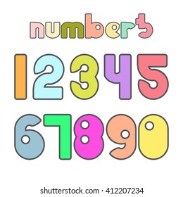 Numbers. Vector illustration.