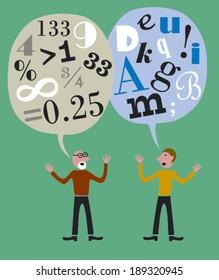Numbers versus Letters