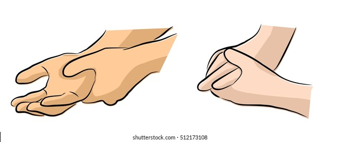 Hand Nerve Damage Stock Illustrations, Images & Vectors