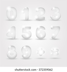 numeral figures glass
