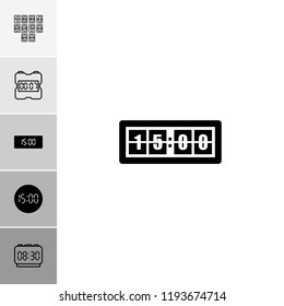 Numeral icon. collection of 6 numeral filled and outline icons such as . editable numeral icons for web and mobile.