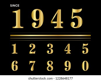numeric golden metal luxury background