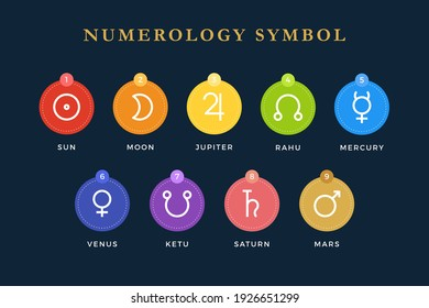 The Numerology Symbol. Isolated Vector Illustration