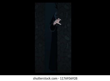 Nun nurse Halloween costume possessed by the demon