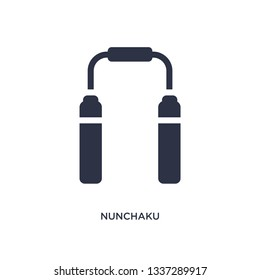 nunchaku isolated icon. Simple element illustration from asian concept. nunchaku editable logo symbol design on white background. Can be use for web and mobile.