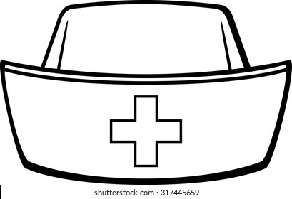 nurse cap images stock photos vectors shutterstock rh shutterstock com nurse hat clip art black and white nurse hat clip art free