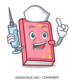 Nurse diary character cartoon style