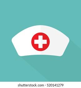 Nurse hat flat icon vector