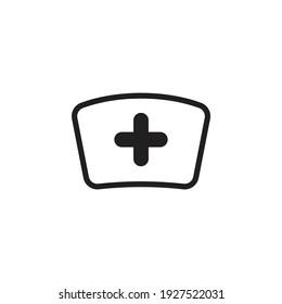 Nurse hat icon design isolated on white background