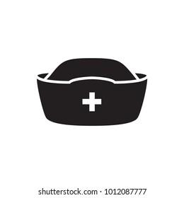 nurse hat icon illustration isolated vector sign symbol