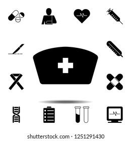 nurse hat icon. Simple glyph vector element of Medecine set icons for UI and UX, website or mobile application