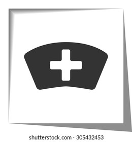 Nurse icon with cut out shadow effect